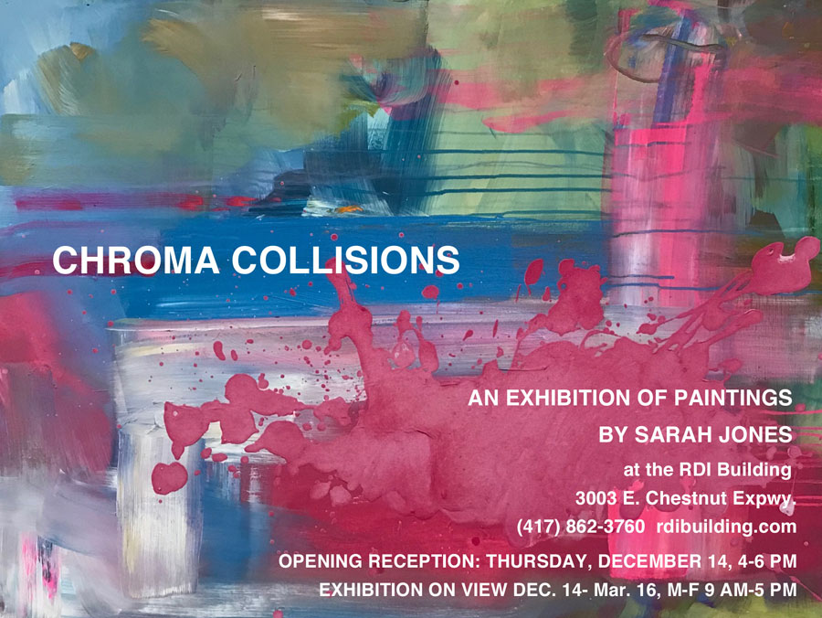 Chroma Collisions painting exhibition by Sarah Jones